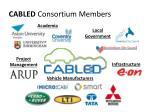 cabled consortium members