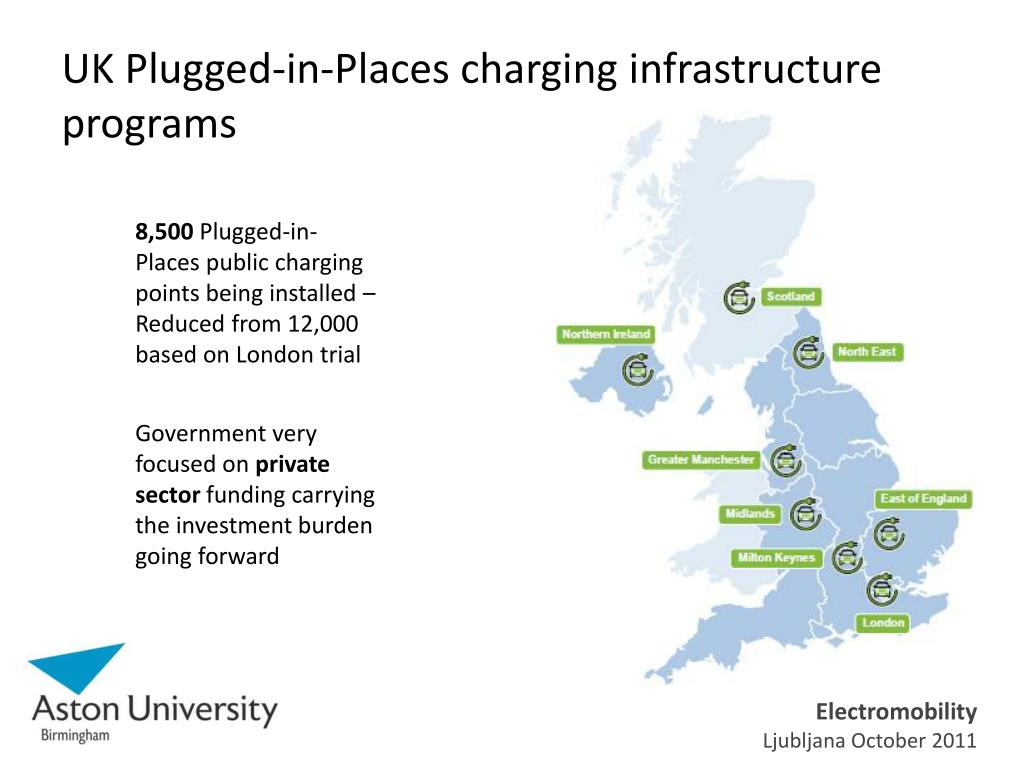 UK Plugged-in-Places charging infrastructure programs