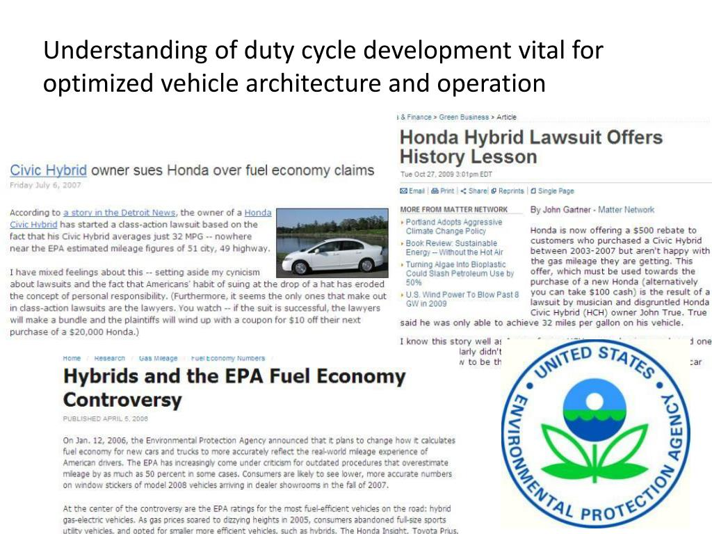 Understanding of duty cycle development vital for optimized vehicle architecture and operation