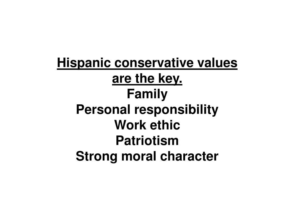 Hispanic conservative values