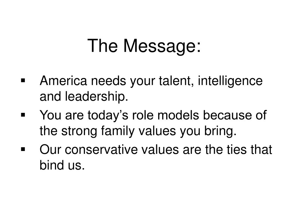 The Message: