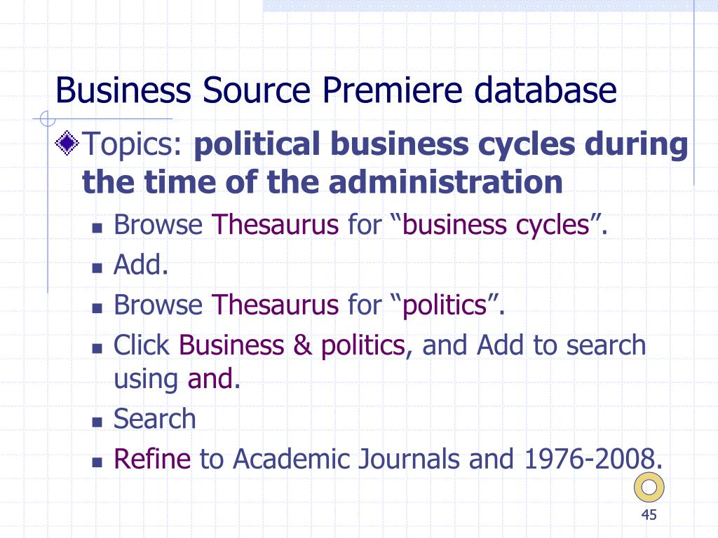 Business Source Premiere database