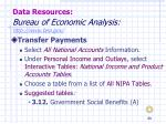 data resources bureau of economic analysis http www bea gov