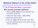 statistical abstract of the united states http www census gov compendia statab