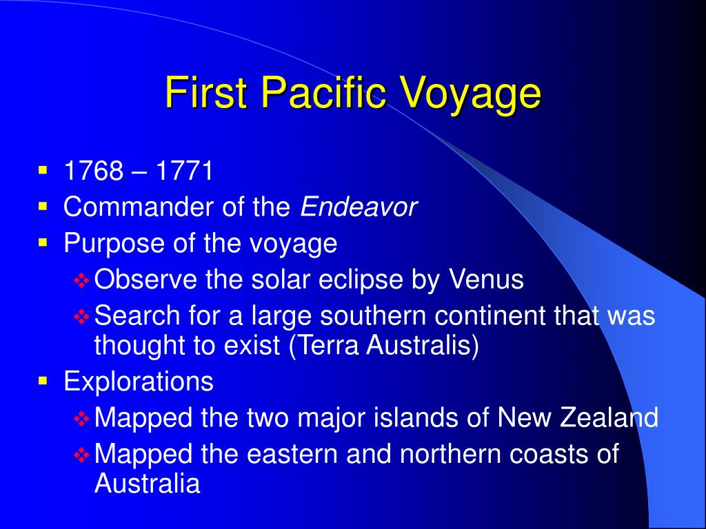 First Pacific Voyage