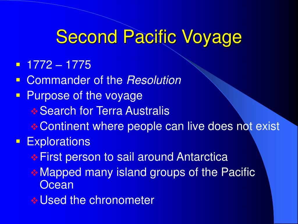 Second Pacific Voyage