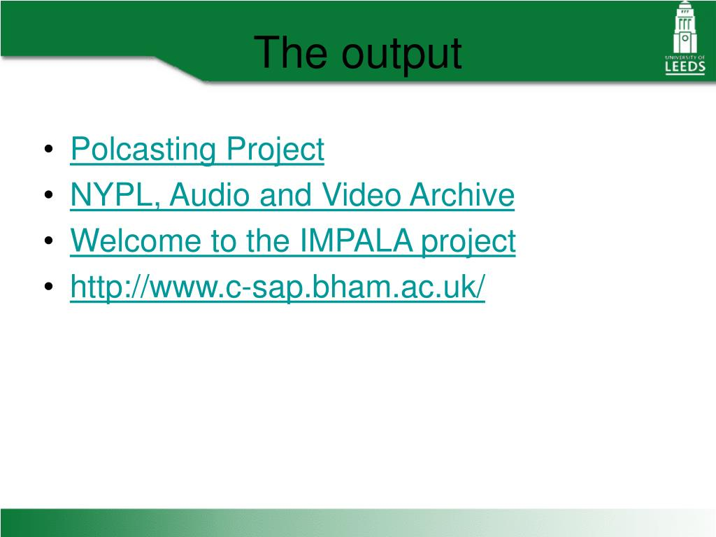 Polcasting Project