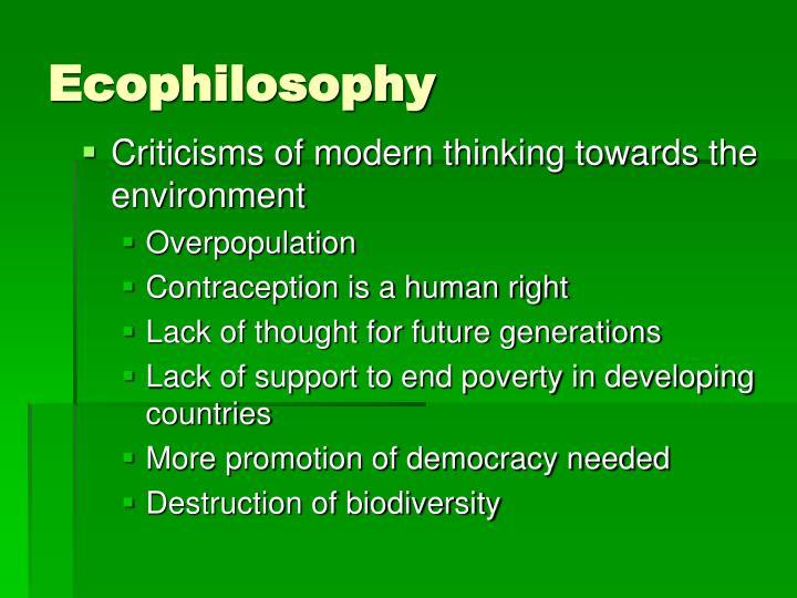 Ecophilosophy
