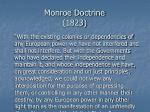 monroe doctrine 1823