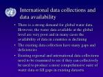 international data collections and data availability