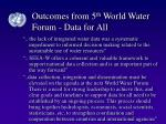 outcomes from 5 th world water forum data for all