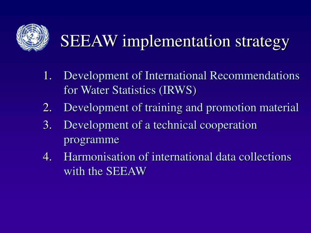SEEAW implementation strategy