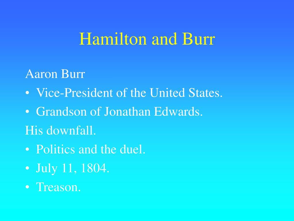 Hamilton and Burr