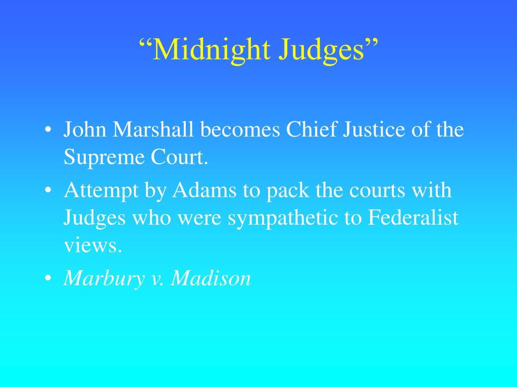 """""""Midnight Judges"""""""