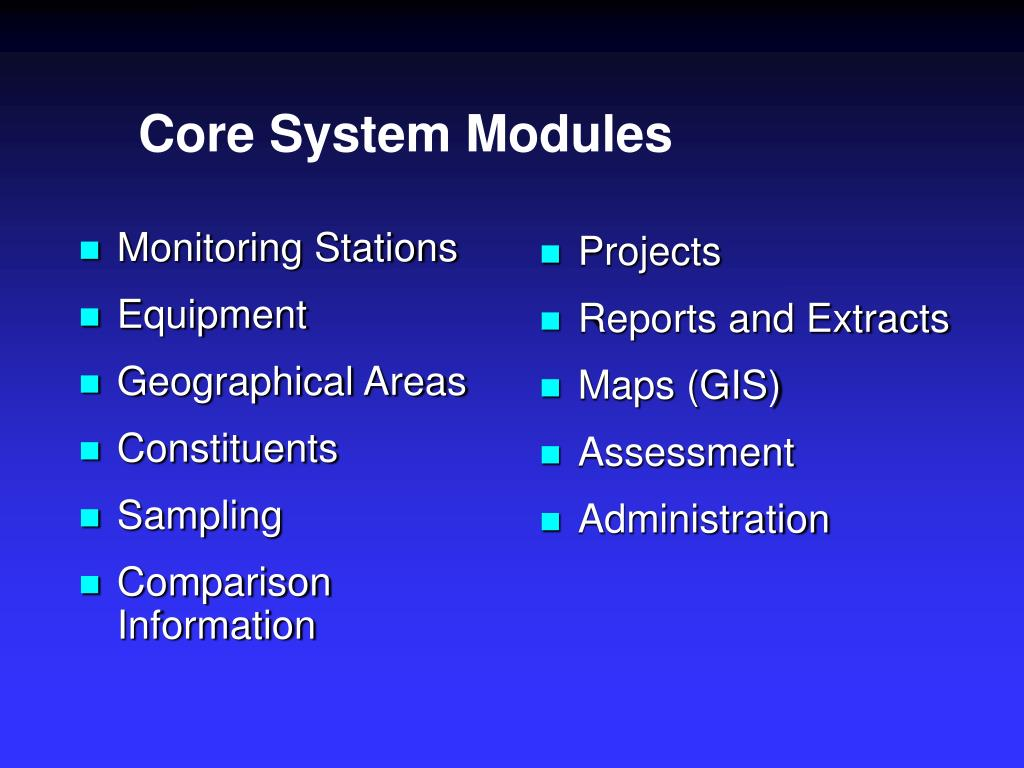 Core System Modules