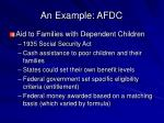 an example afdc