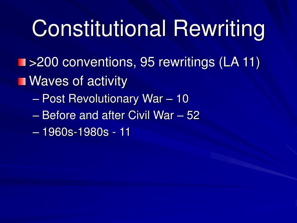 Constitutional Rewriting