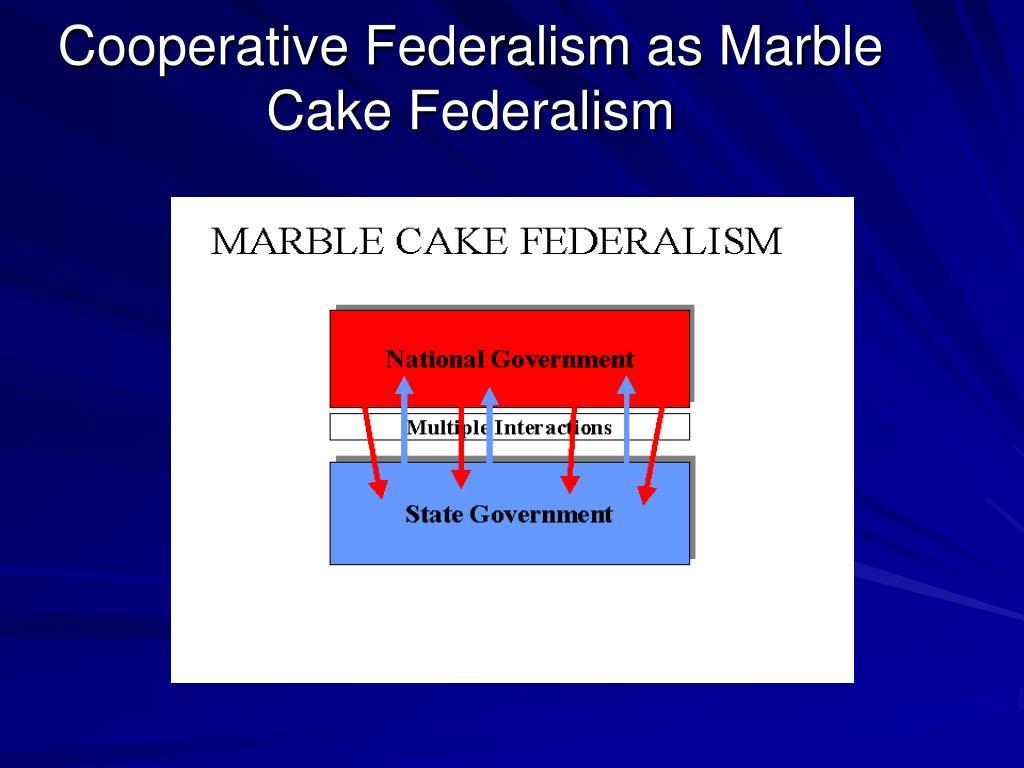 Cooperative Federalism as Marble Cake Federalism