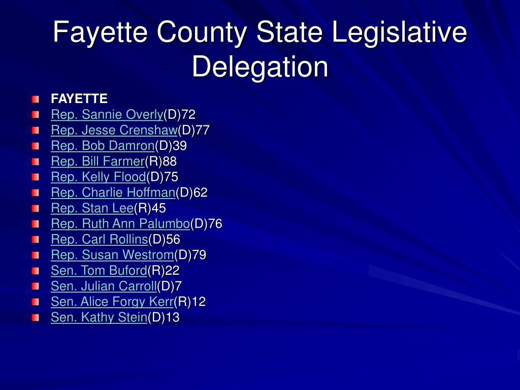 Fayette County State Legislative Delegation
