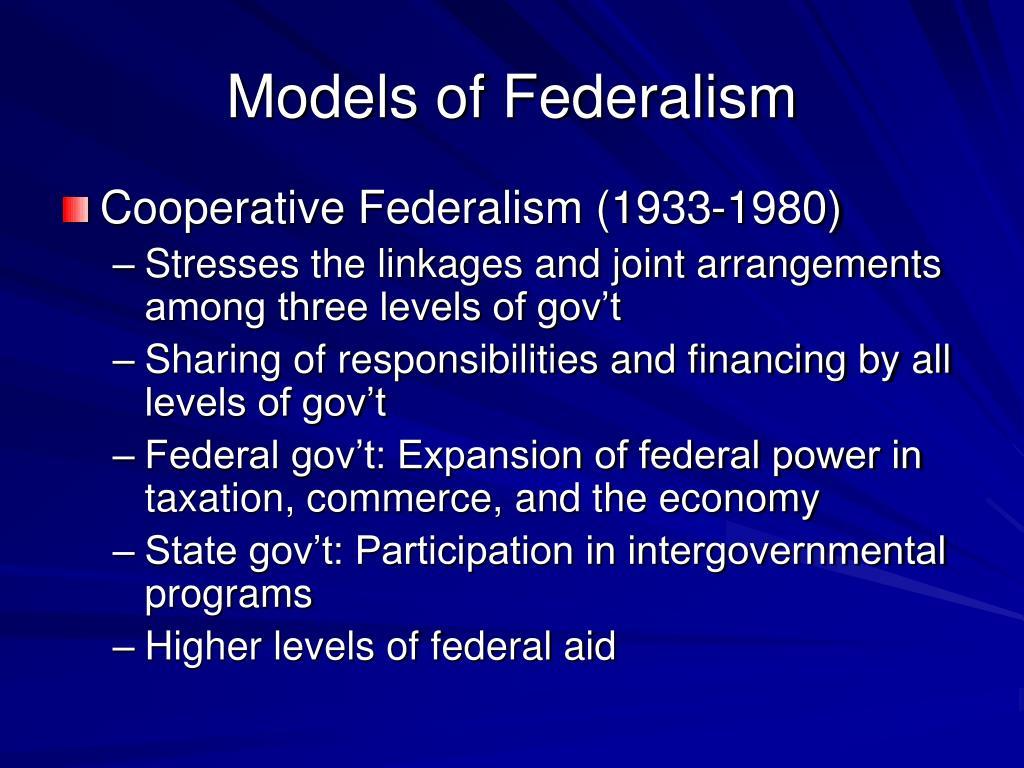 Models of Federalism