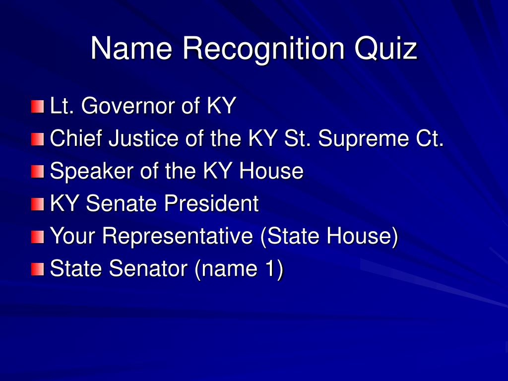 Name Recognition Quiz