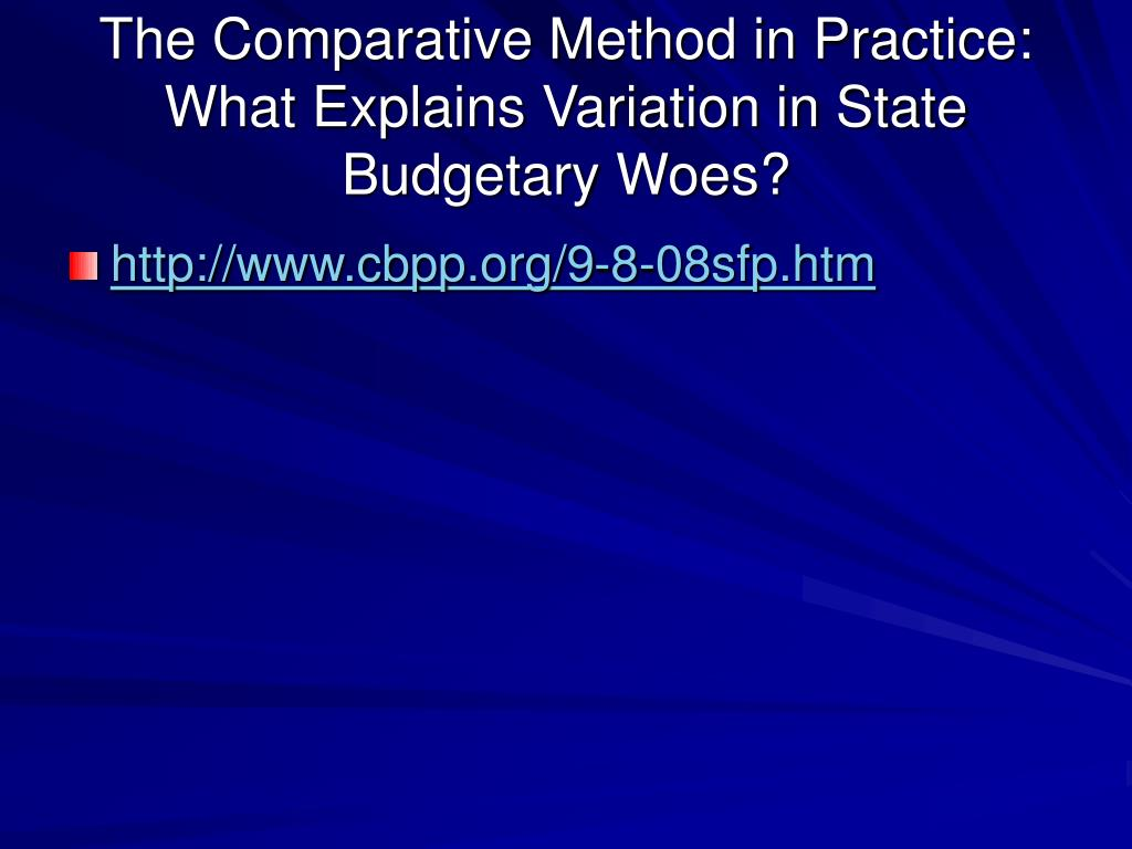 The Comparative Method in Practice