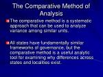 the comparative method of analysis