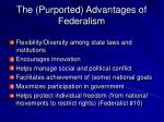 the purported advantages of federalism