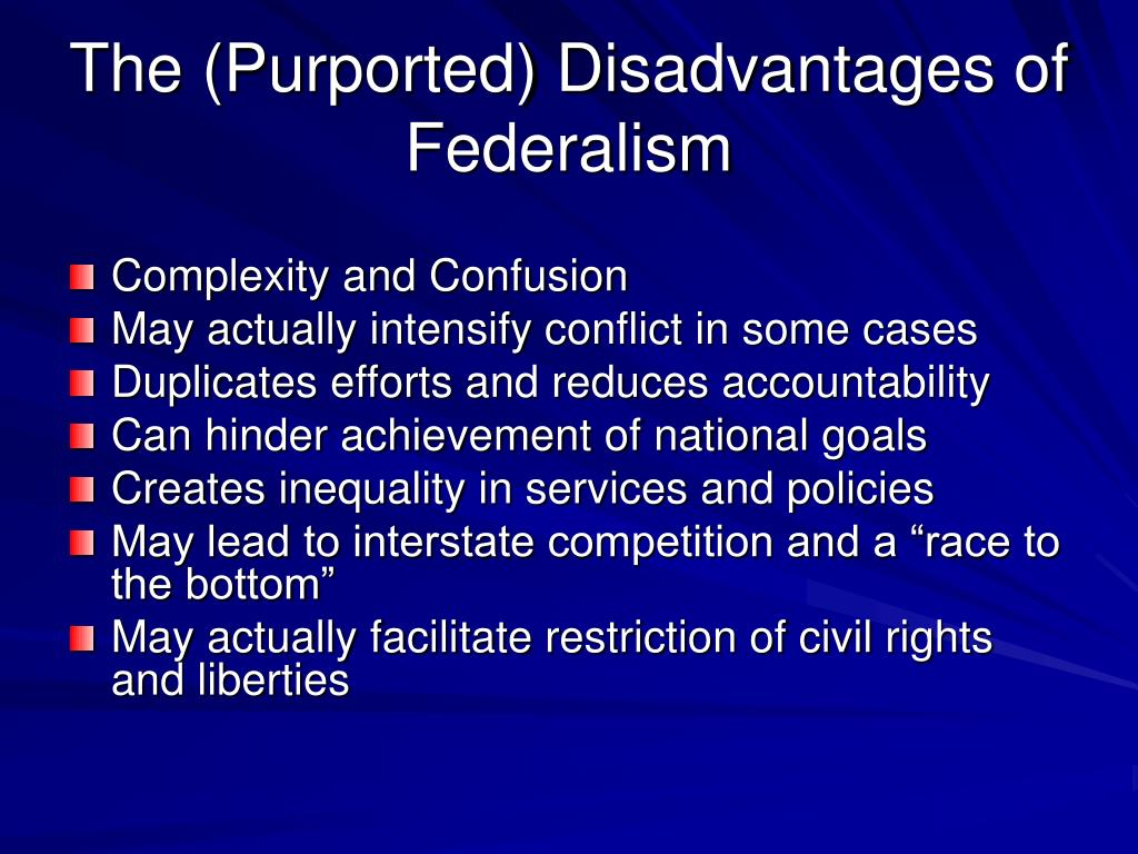 The (Purported) Disadvantages of Federalism