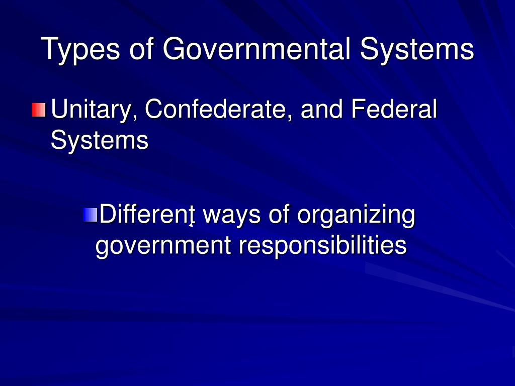 Types of Governmental Systems