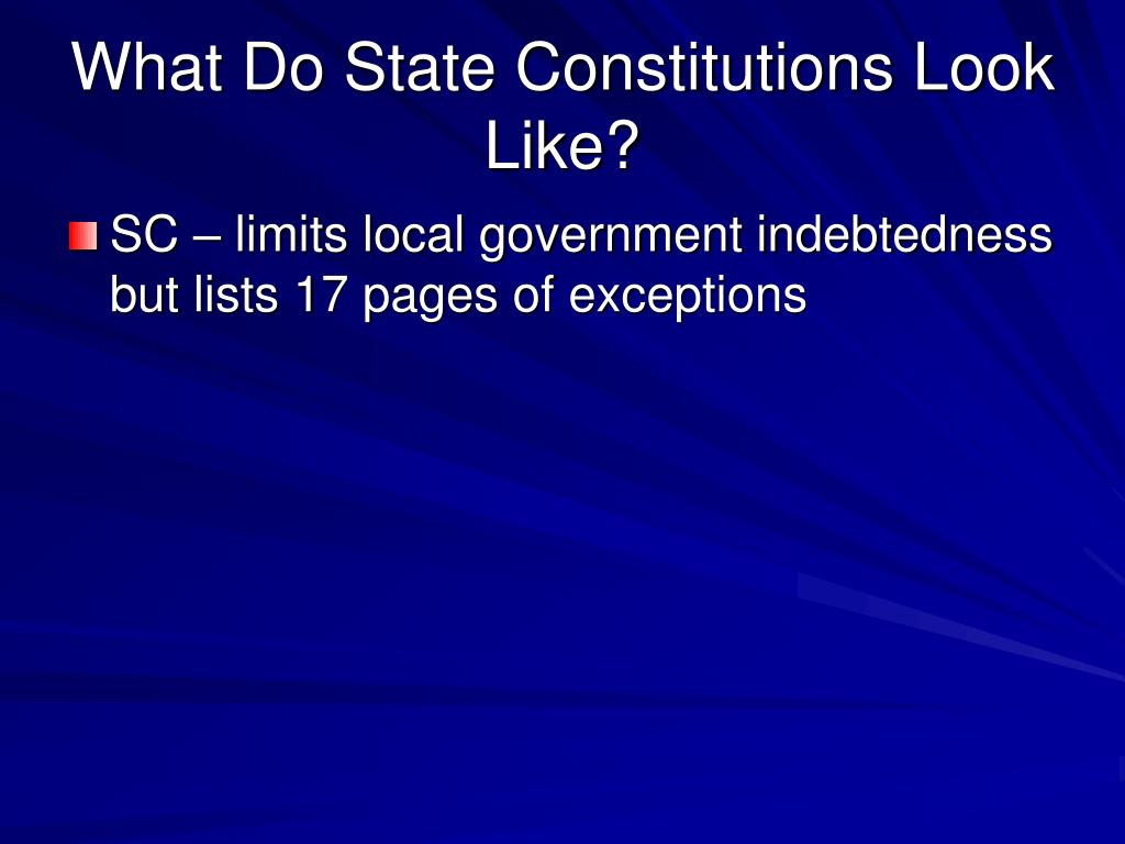 What Do State Constitutions Look Like?