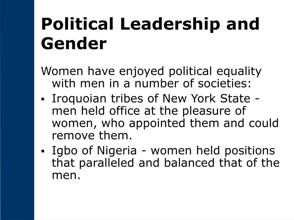 Political Leadership and Gender
