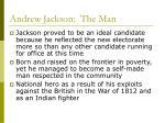 andrew jackson the man