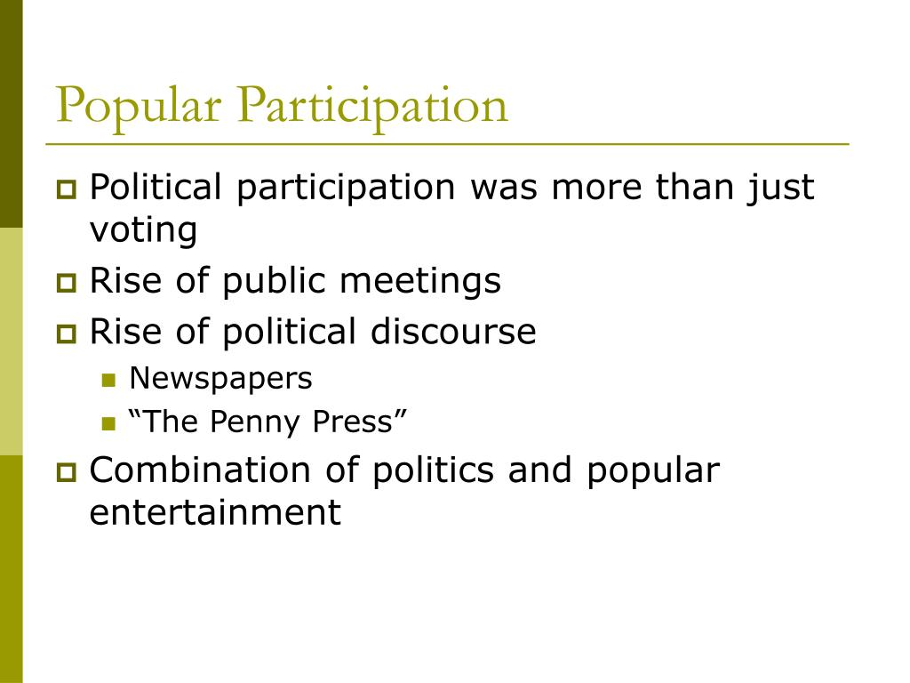 Popular Participation