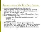 reemergence of the two party system