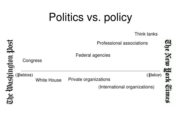 Politics vs policy