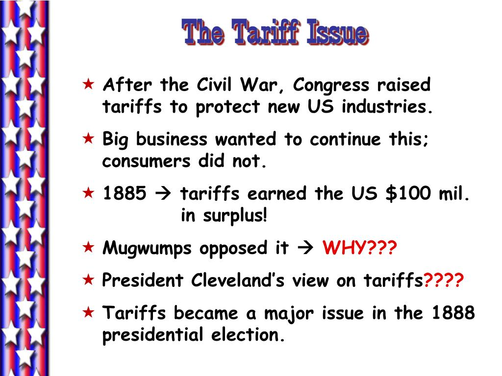 The Tariff Issue