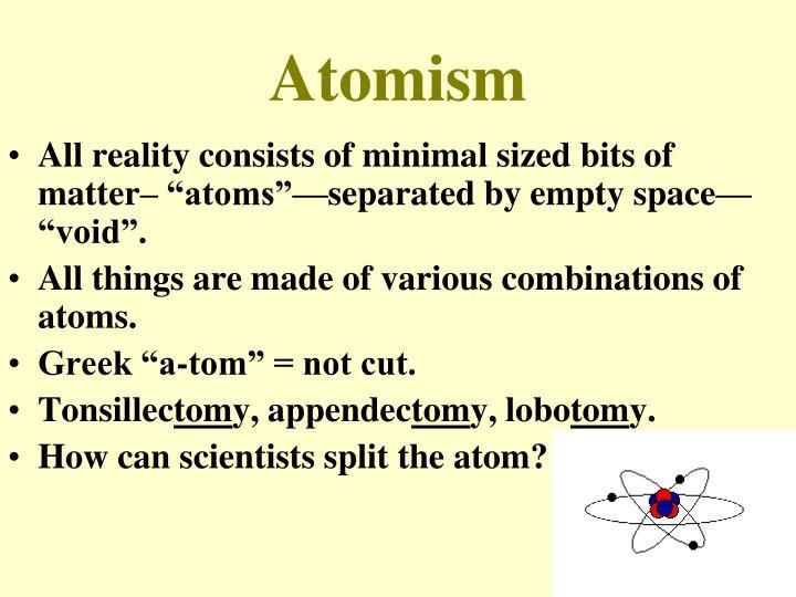 Atomism