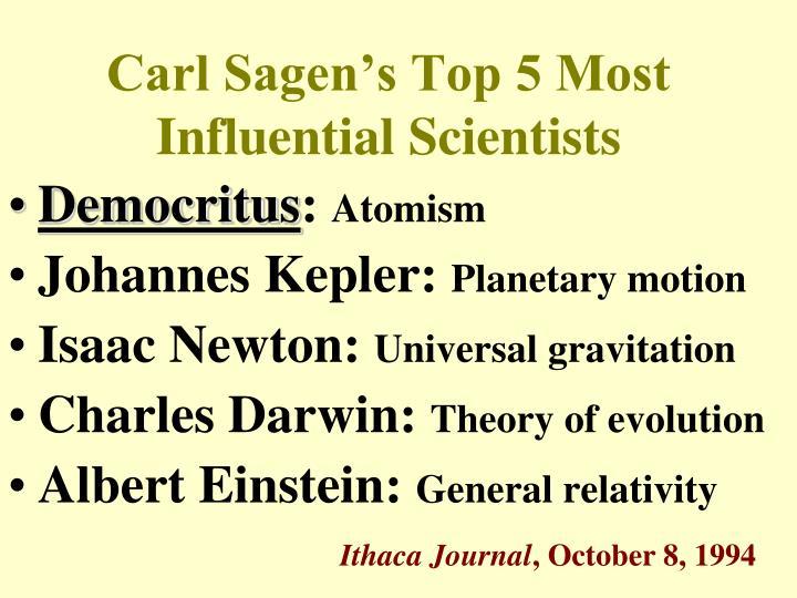 Carl Sagen's Top 5 Most Influential Scientists
