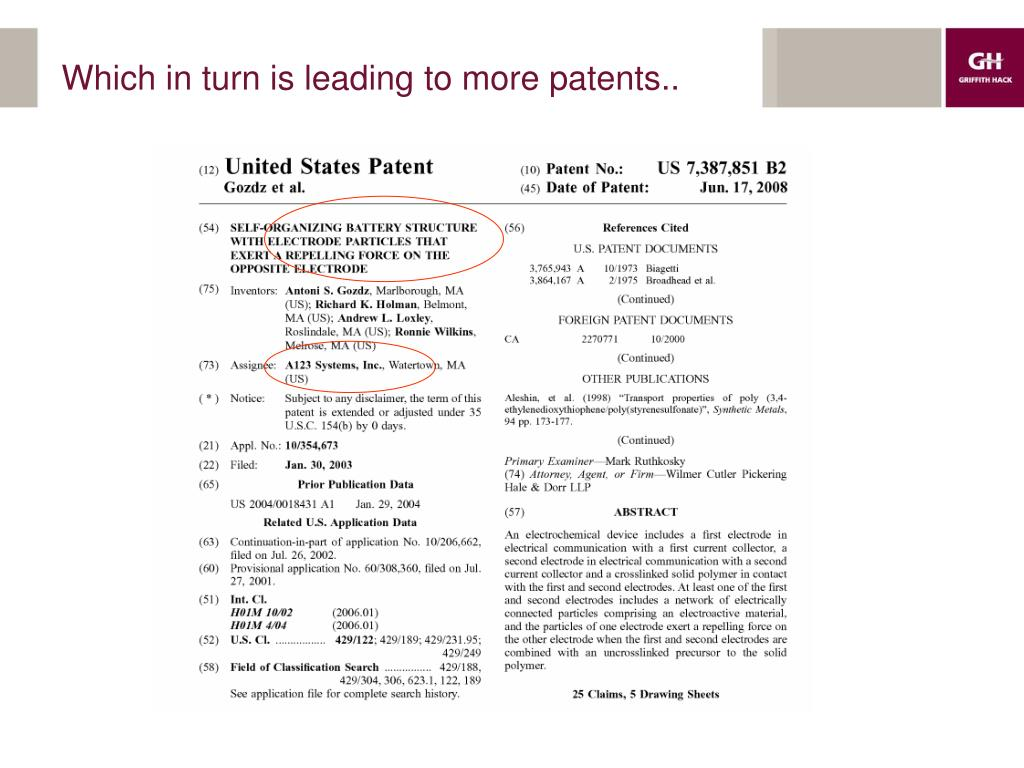 Which in turn is leading to more patents..