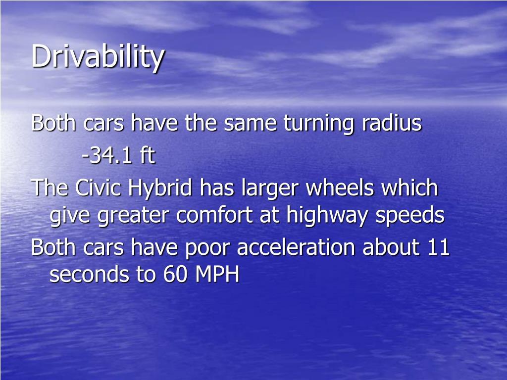 Drivability