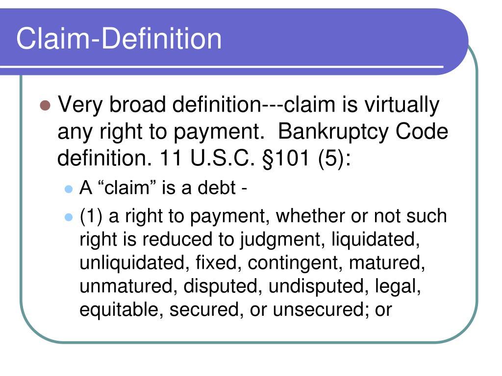 Claim-Definition