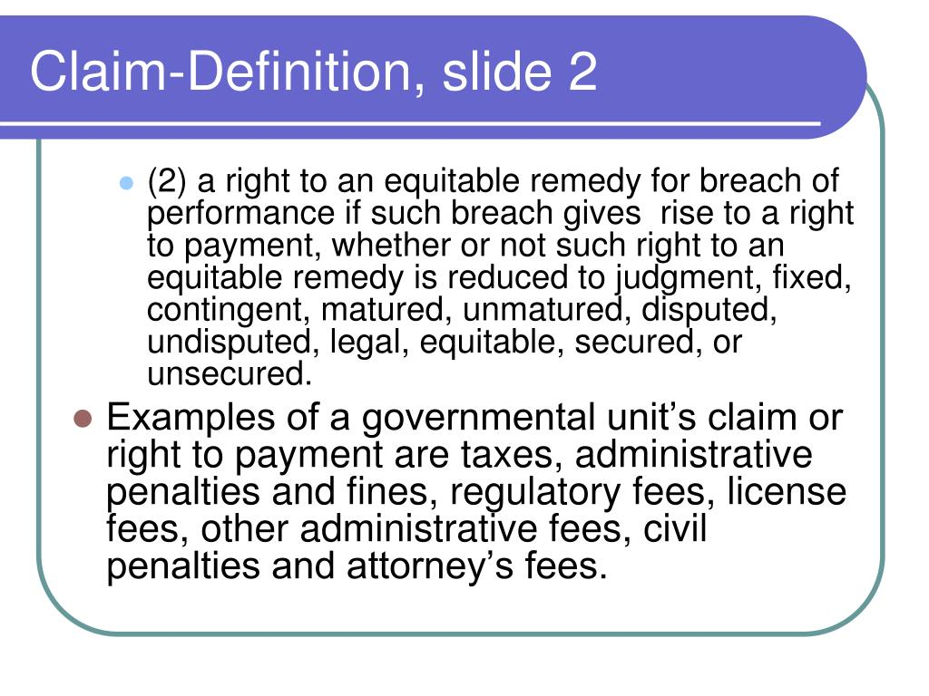 Claim-Definition, slide 2