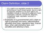 claim definition slide 2