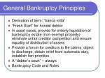 general bankruptcy principles