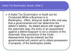 sales tax bankruptcy issues slide 2