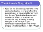 the automatic stay slide 3