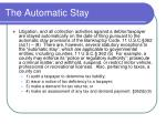 the automatic stay
