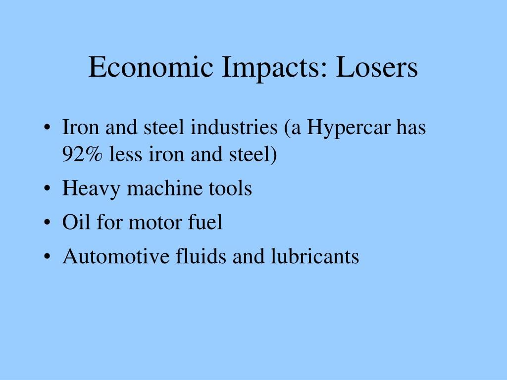 Economic Impacts: Losers