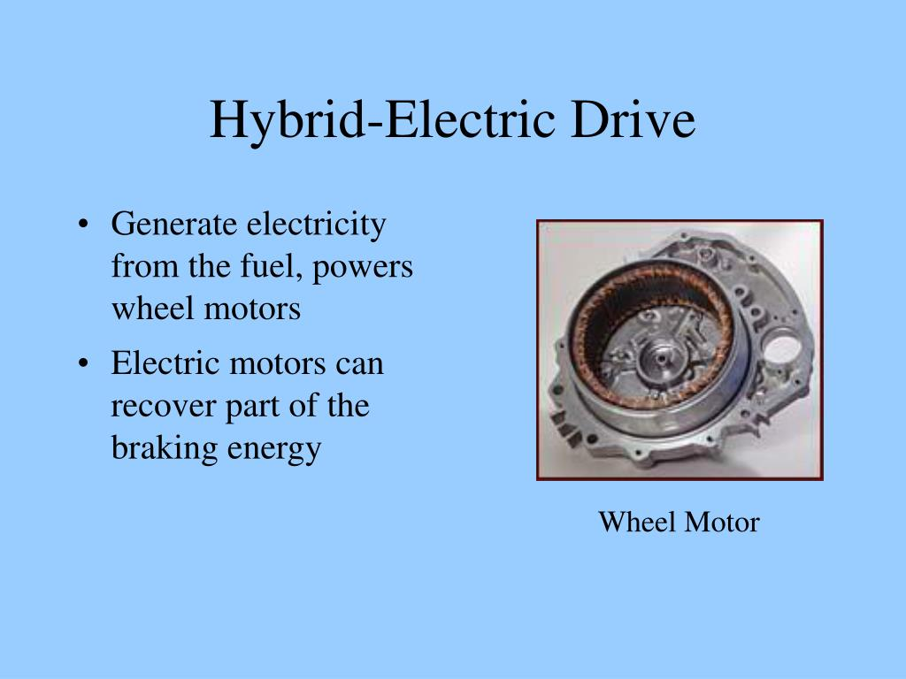 Generate electricity from the fuel, powers wheel motors